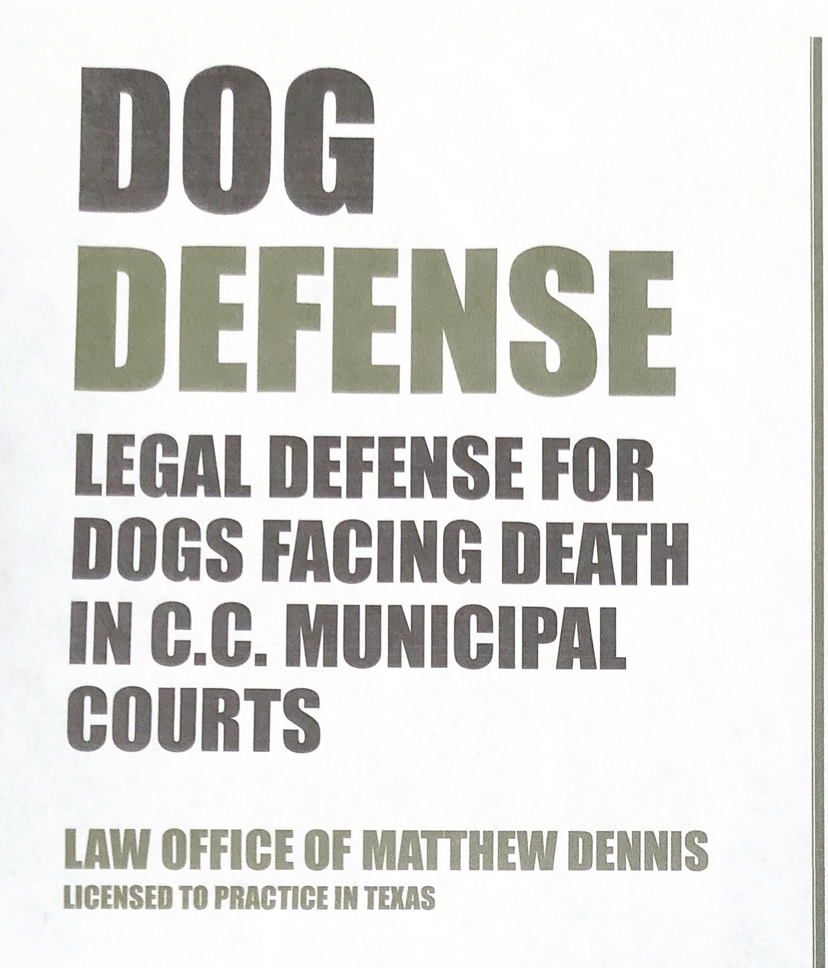 Dog Defense – Law Office of Matthew Dennis